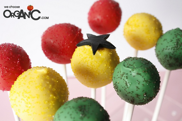 Colorful Ghana Flag themed Cake Pops