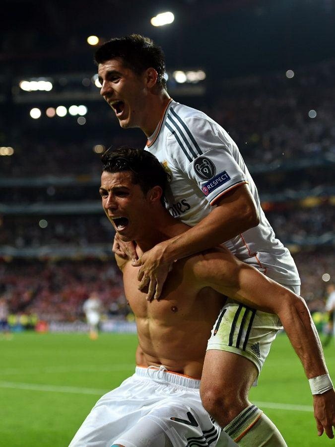 Cristiano Ronaldo Celebrates Real Madrid's 2014 Champions League Win