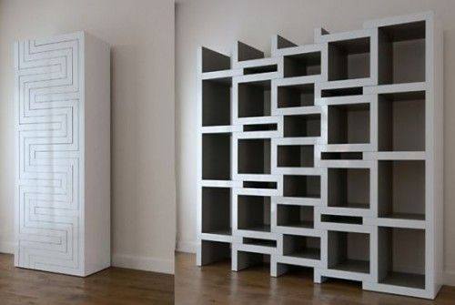 rek-bookcase collapses or grows with your book collection. Could be good as a product stand, for minimal space. #salonfurniture #hairdressing #hair 100khairdresser.com