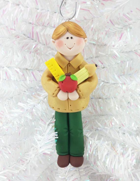 Male Teacher Gift  Male Teacher Christmas Ornament  Teacher