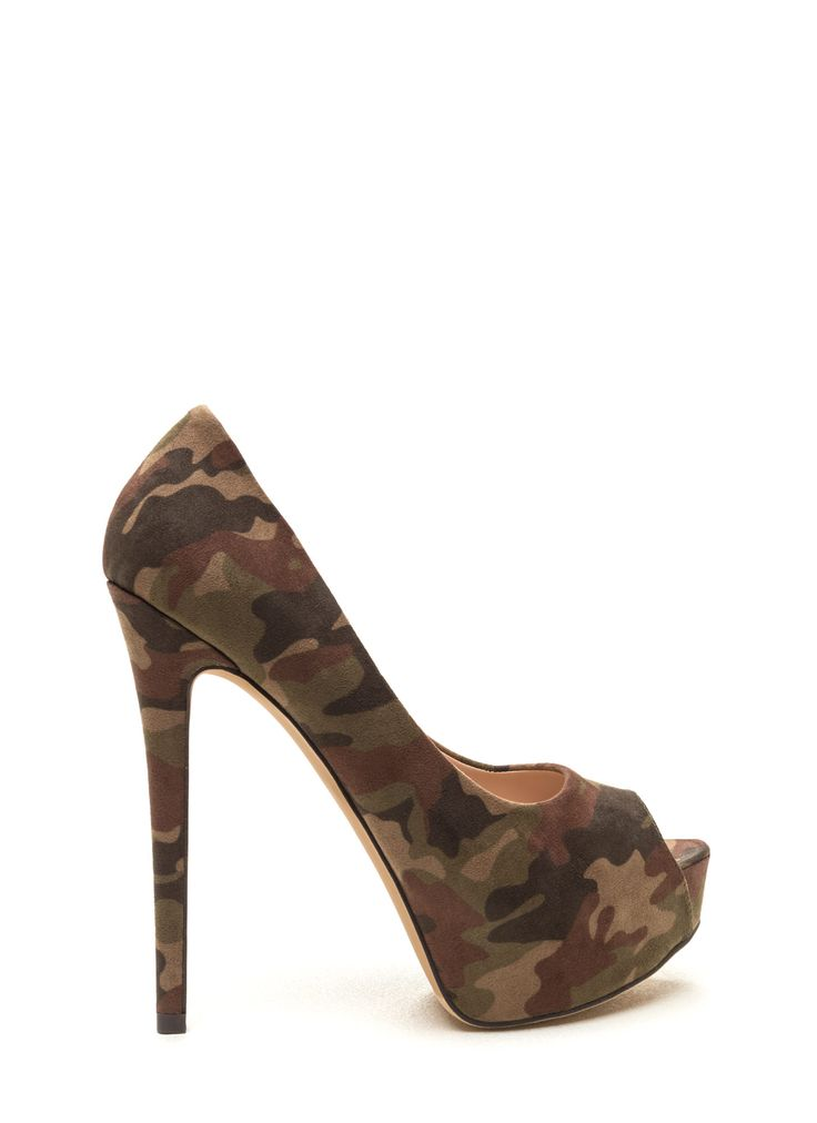 High Voltage Camo Platform Pumps GoJane.com