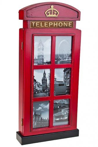 Ящик для ключей «Телефонная будка»