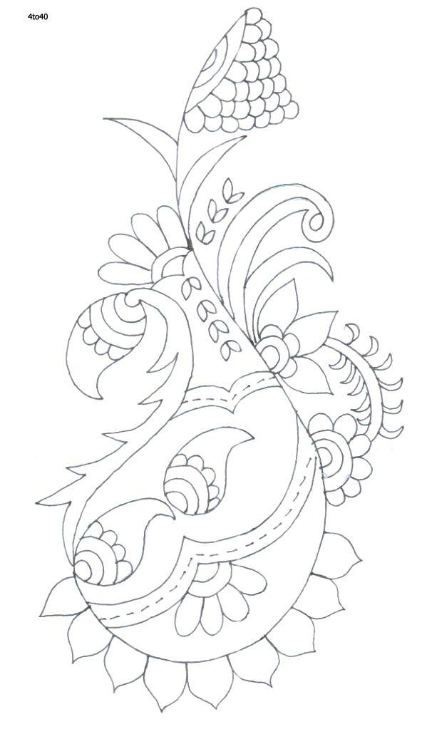 Indian Motifs Textile Pattern, Sarika Agarwal Textile Pattern 47, Indian Motifs…