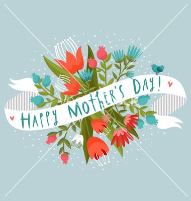 Happy mothers day vector flower - by stolenpencil on VectorStock®