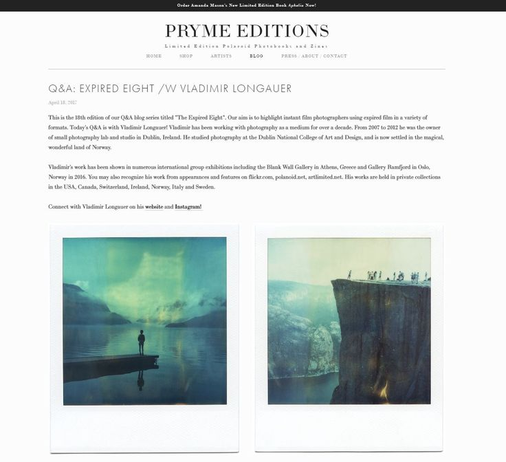Blog - VLP � Analog Photography � Fine Art Prints