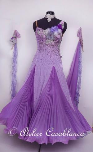 レースモチーフに石がびっしりのサーモンピンクのラテンドレス(11号)   Atelier Casablanca -ダンスドレスの部屋- - 楽天ブログ