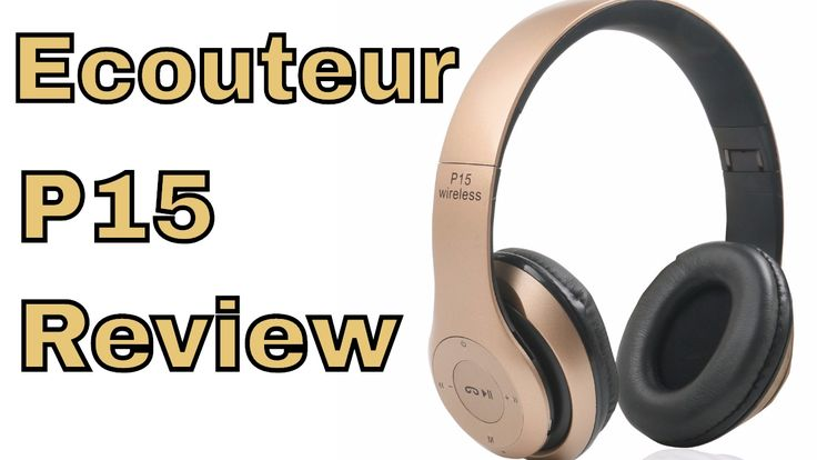 Ecouteur Sans fil P15 Pliable avec Microphone Bluetooth Fm Radio Francai...