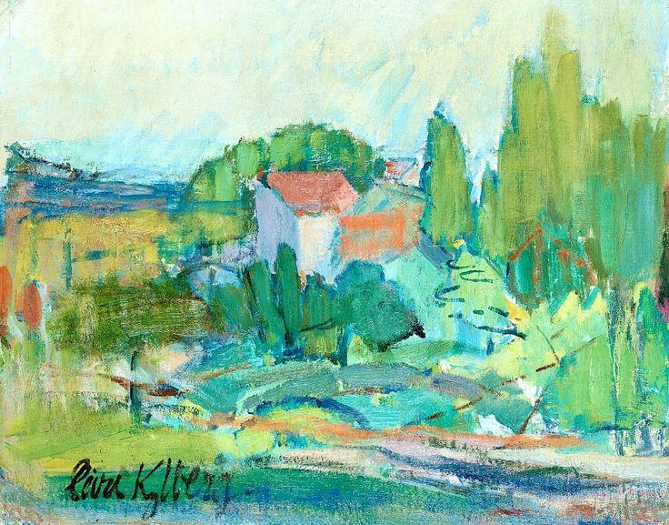 "Carl Kylberg 1878-1952 ""House among Trees"""