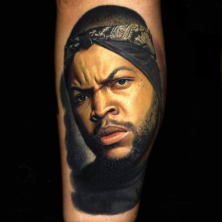 6. Ice Cube tattoo by Nikko Hurtado