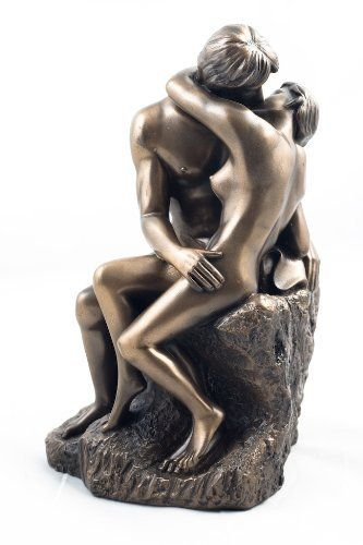 Art Deco Bronze - The Kiss - Nude Lovers Figure Statue A Rodin  Price : £38.99 http://www.bronzebarngallery.com/Art-Deco-Bronze-Lovers-Figure/dp/B0014DUFIY