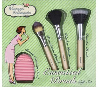 The Vintage Cosmetic Company 4-Piece EssentialBrush Gift Set - A362698