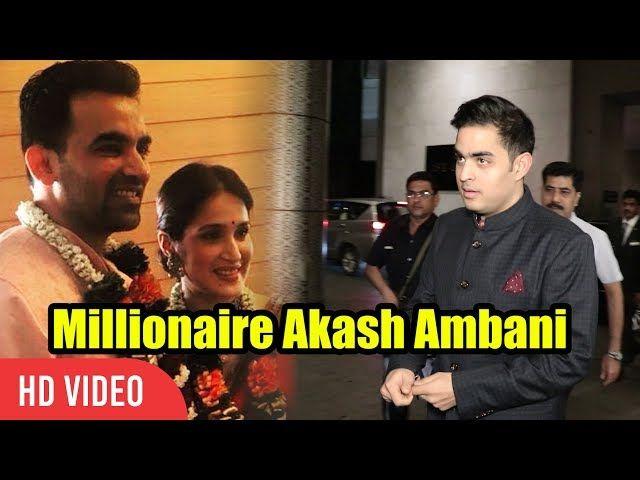 Millionaire Akash Ambani At Zaheer Khan Wedding Reception | Son Of Mukesh Ambani | lodynt.com |لودي نت فيديو شير