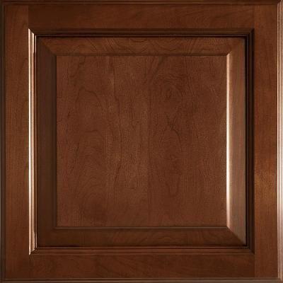 American Woodmark 14 9 16x14 1 2 In Cabinet Door Sample In Alexandria Cherry Chocolate Glaze