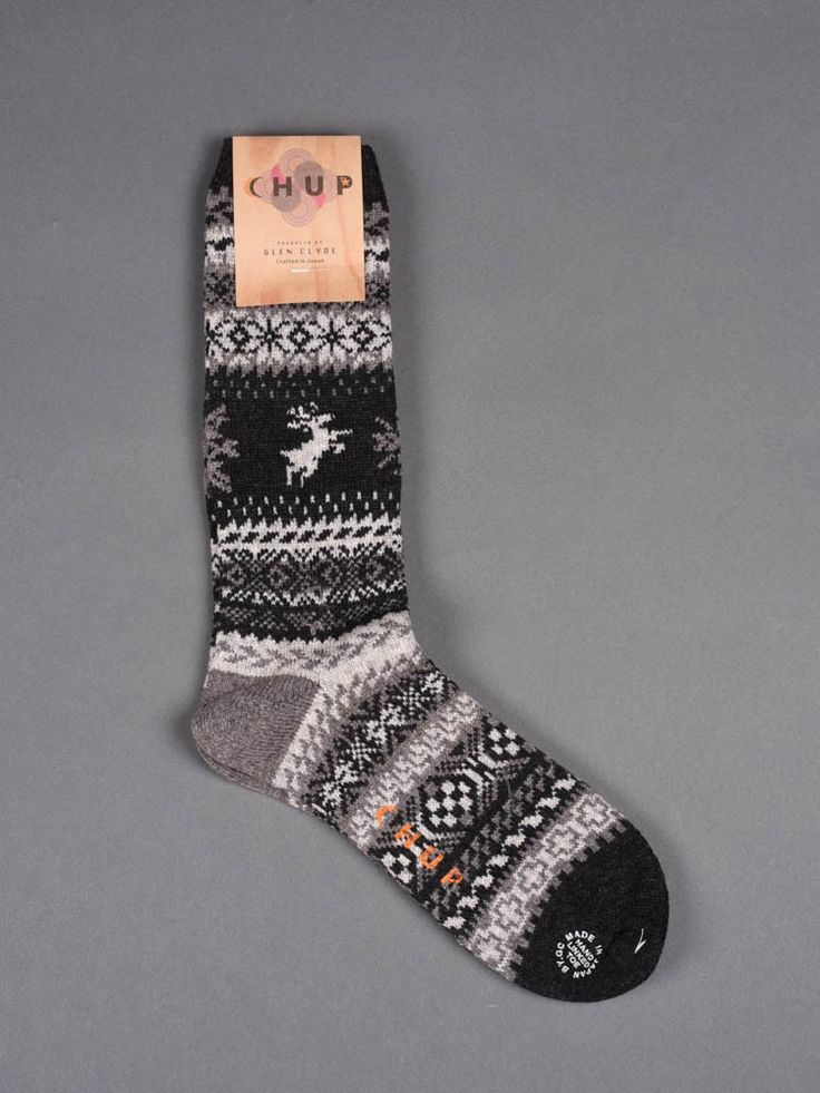 Chup Socks - Capiliano - Black -Hand-linked toe -Crafted in Japan