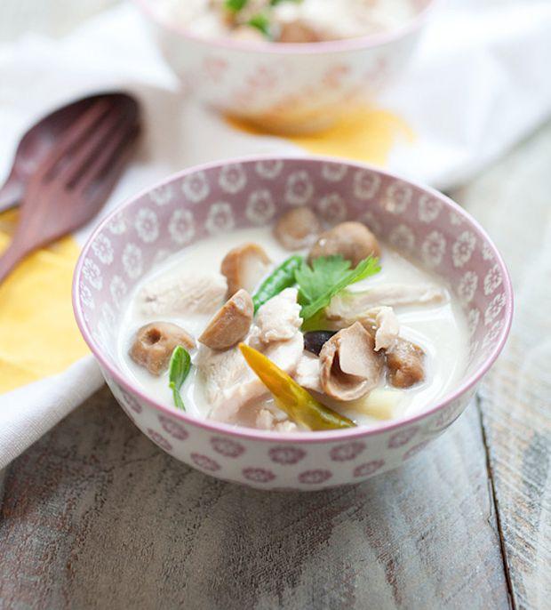 Tom-Kha-Gai-Recipe-(Thai-Coconut-Chicken-Soup) Recipe - RecipeChart.com #Appetizer #Savory