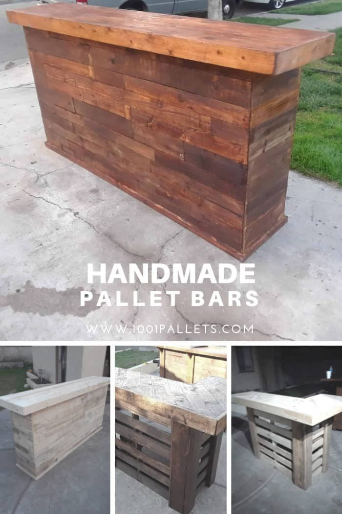 Handmade Pallet Bars Diy Pallet Projects Pallet Diy Wood