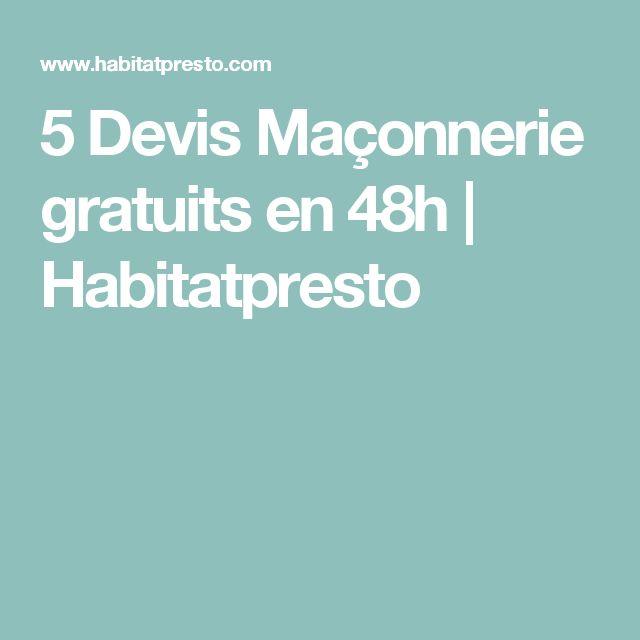 5 Devis Maçonnerie gratuits en 48h | Habitatpresto