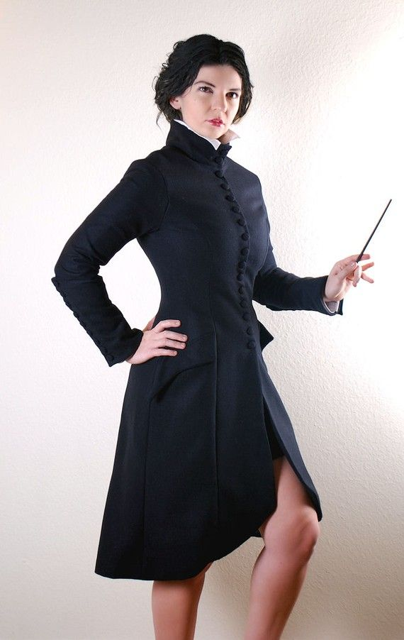 Jacket inspired by Movie!Snape - why didn't I think of this!!! (lined in Slytherin green, natch)