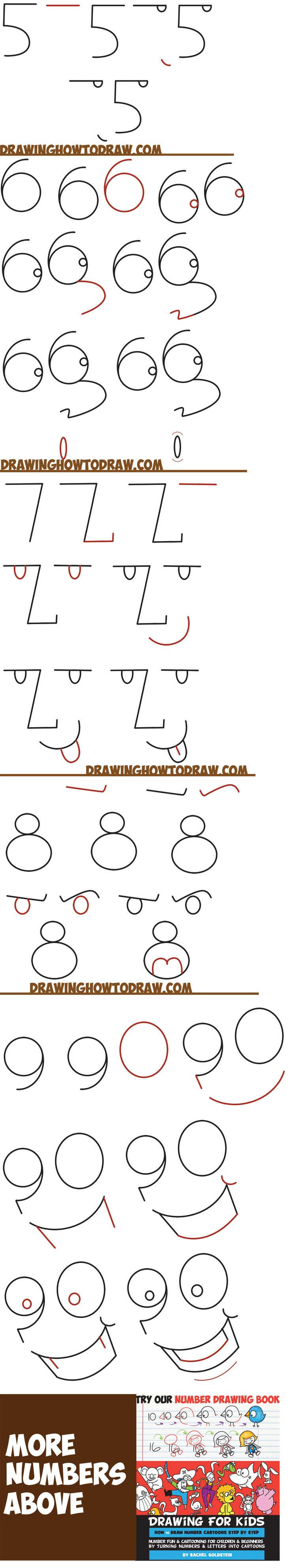 Learn How To Draw Cartoon Faces From Numbers 1  9 Shapes In Simple Steps  Drawing