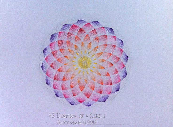 Waldorf ~ 6th grade ~ Geometric Drawing ~ 32 Division of Circle ~ main lesson…