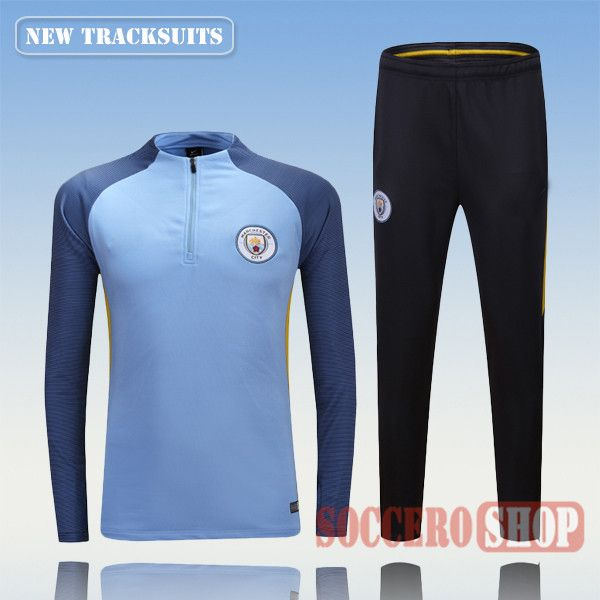 Newest Best Mens Manchester City 2016 2017 Light Blue Tracksuit Personalised Customised   Thai Edition