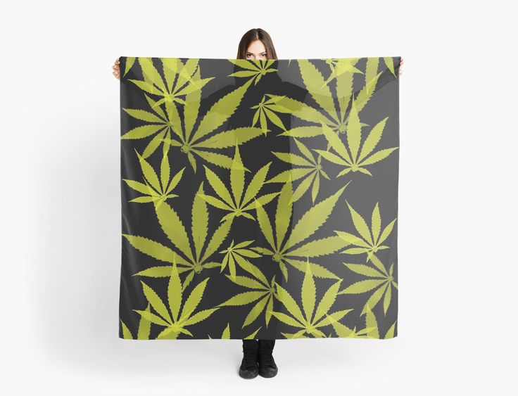 Ganja cut in Fabric yellow and black pattern by cool-shirts