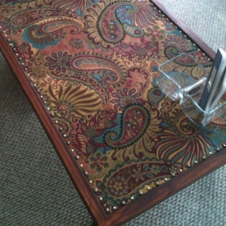 17 best images about glass table top redo on pinterest for Using fabric paint on glass