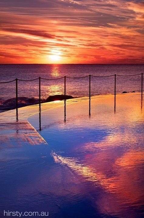 Bondi beach,  sunset
