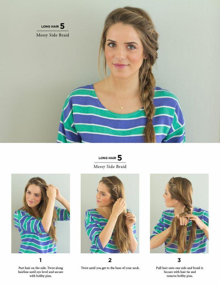 Messy side braid