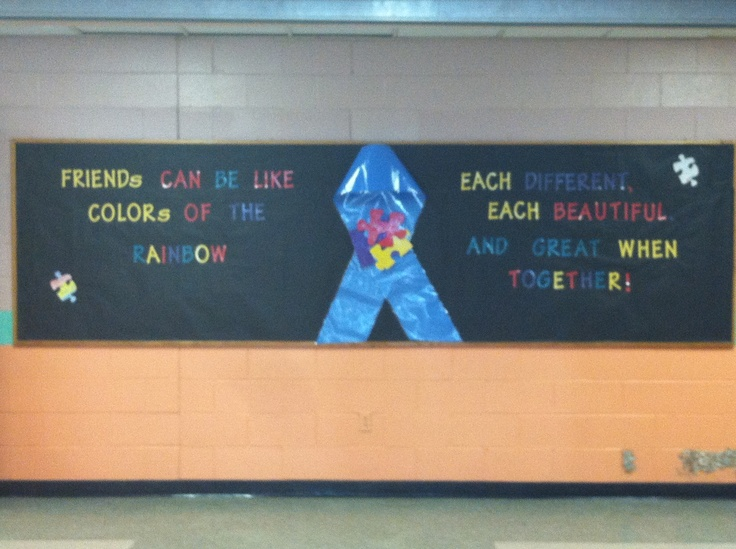 Autism Awareness bulletin board for student