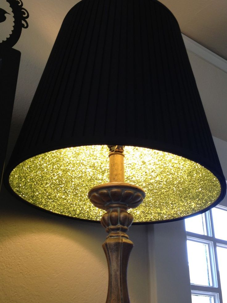 Great Lampshade Glitter Project