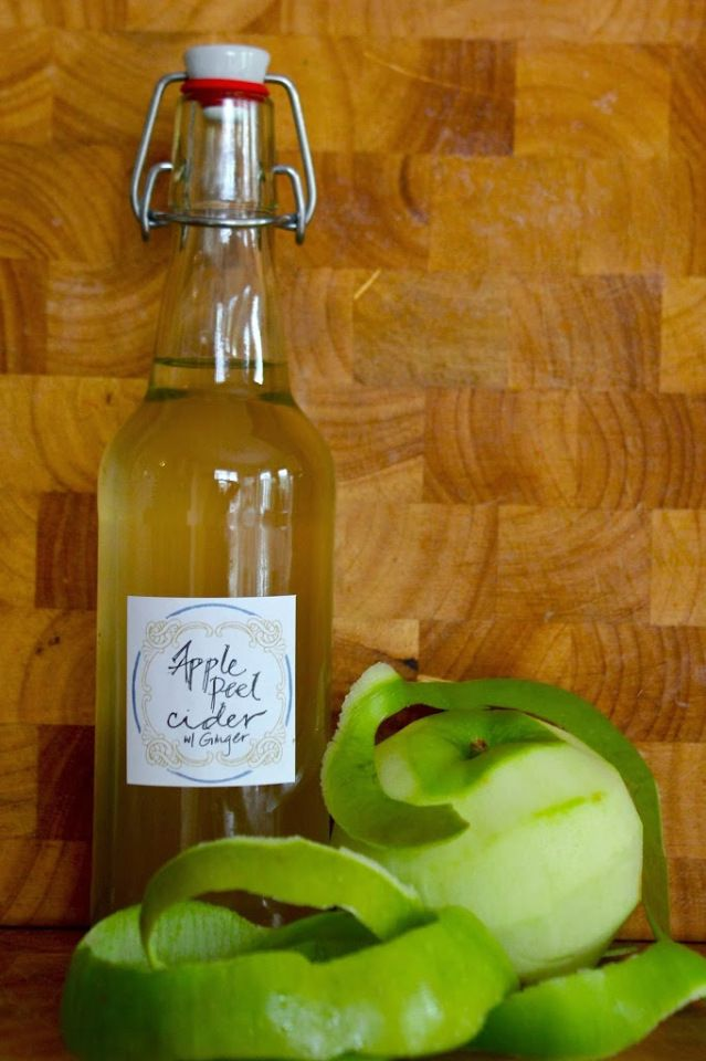 Make Simple Apple Peel Cider With Your Apple Scraps! | And Here We Are... #beverages #homebrewing #cider #apples #frugal