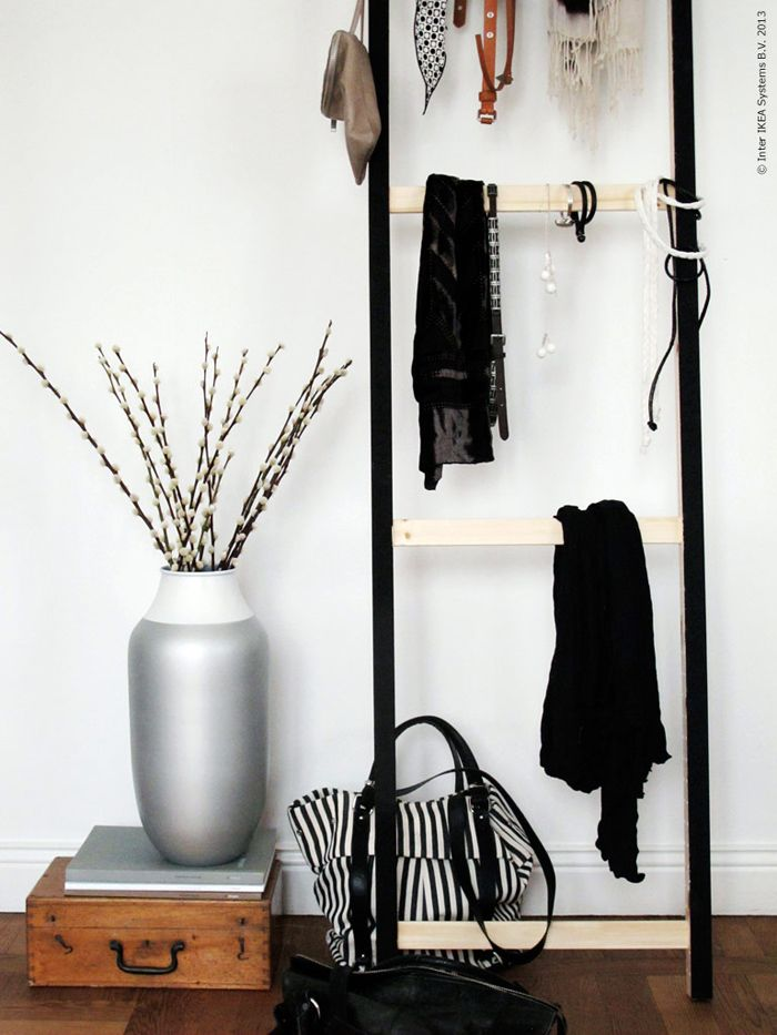 DIY Idea: Accessories/Towel Ladder –Ikea Hack