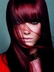 Burgandy Hair Color & Full BANGS!