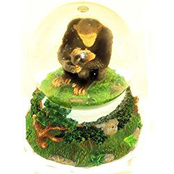 """San Francisco Music Box Company - Mom and Baby Chimp Water Globe - Plays """"Unchained Melody"""""""