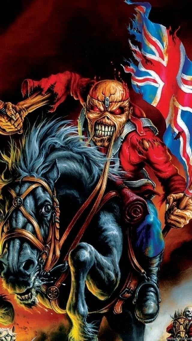 Iphone 5 Music Iron Maiden Wallpapers Id Posteres De Rock Rock Poster Desenho Rock