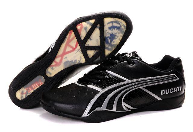 puma shoes for men, Puma Ducati Shoes In Black Silver, puma shoes online mens Authorized Site