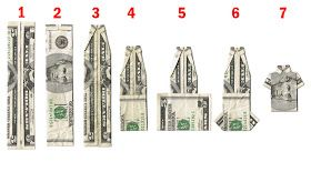 How To Fold Money Into Shirts