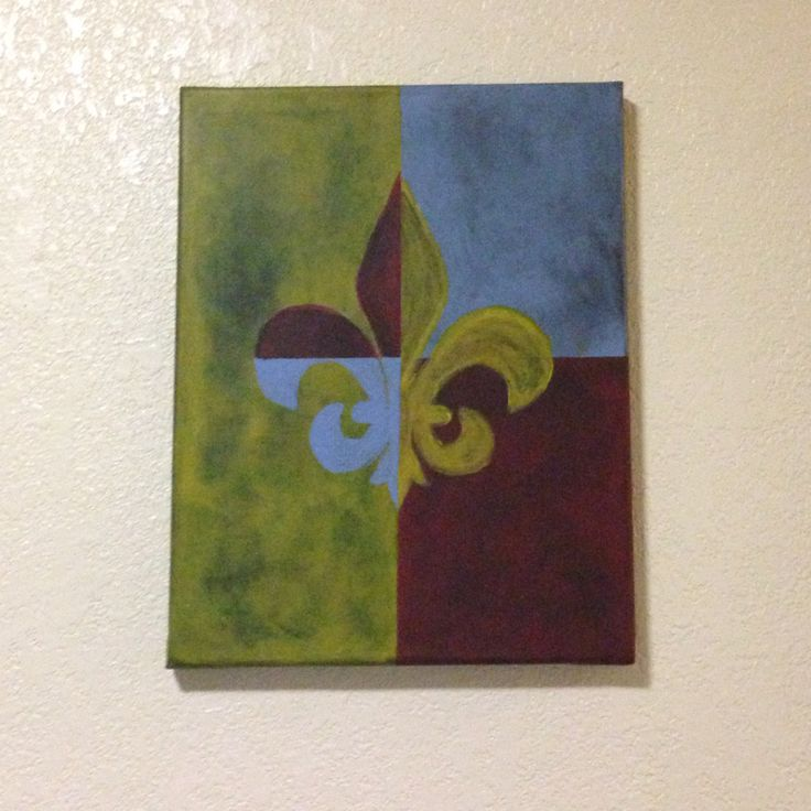 7 best do it yourself abstract artwork images on pinterest black simple painting i did of fleur de lis in abstract using variation of yellow red solutioingenieria Image collections