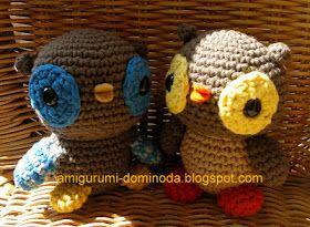 Ami-Domi Land: вяжем амигуруми: Маленькие совы амигуруми