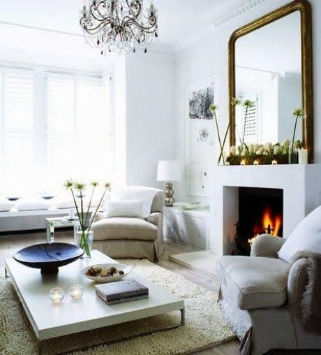 C mo decorar la chimenea para m s informaci n ingresa en - Como decorar un salon con chimenea ...