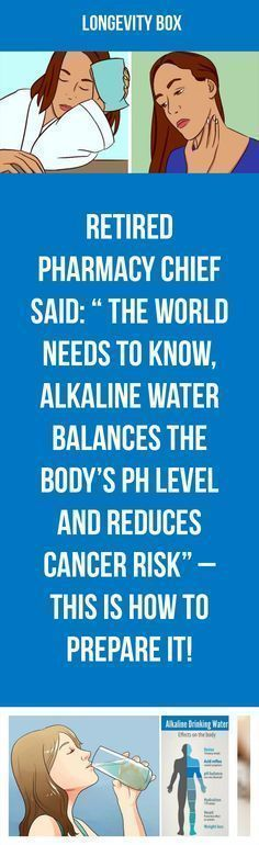 Alkaline water balances the body's ph level and reduces cancer risk