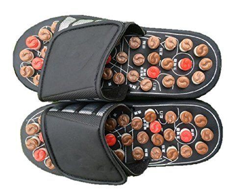 Foot Massage Slippers Sandals Health Care Acupuncture Shiatsu Circulation Systemic Circulation Reflexology (8 - 8.5 (24.0 - 24.5cm))