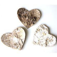 100 unids 5 cm Corteza De Abedul Amor Corazón De Madera Rústica Artesanía Decoración de La Boda del Confeti Decoraciones de Mesa de Boda Centros de Mesa(China)