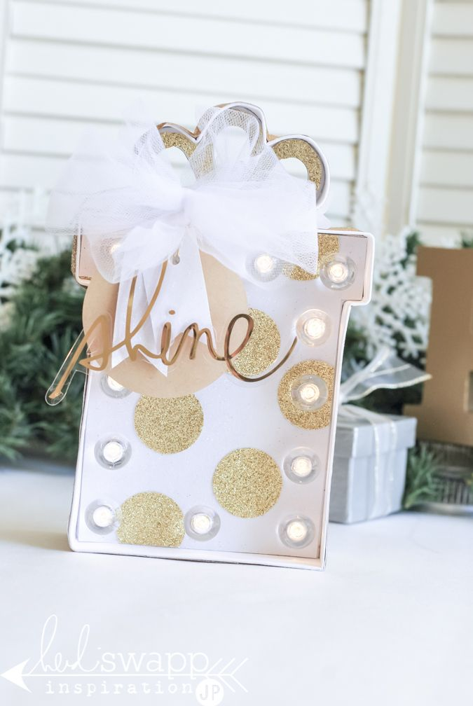 Christmas Marquee Love | Wrap up a Marquee Love Christmas Present to decorate your mantle or give as a gift. @jamiepate for @heidiswapp