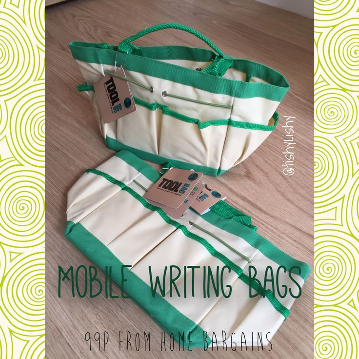 "Bargain writing bags from ""Home Bargains"""