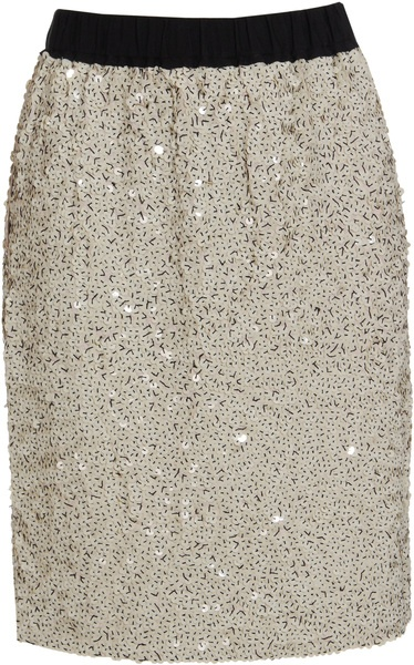 Lanvin Jersey Skirt with Sequins