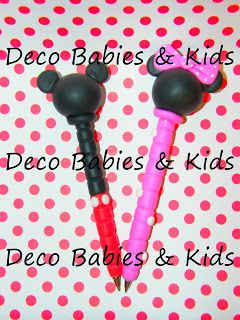 Deco Babies & Kids: Lapiceras decoradas Mickey y Minnie