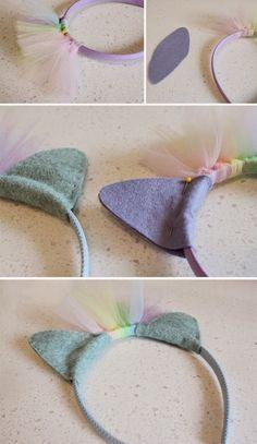 DIY Rainbow Party headbands! Super cute for the girls.