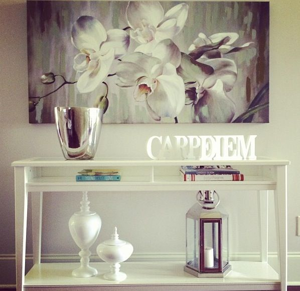 My console table ikea sofa table liatorp walls are behr - Consola recibidor ikea ...